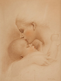 Charles Gates Sheldon Mother And Child